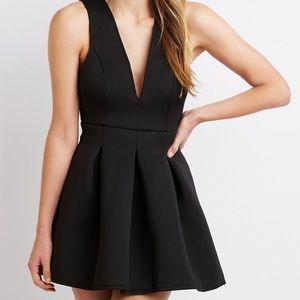 Charlotte Russe Sexy Deep V black dress